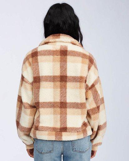 3 Grafton Button Through Fleece Jacket Beige ABJFT00106 Billabong