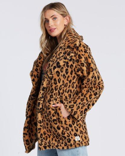 5 The Brighton Fleece Jacket Beige ABJFT00112 Billabong