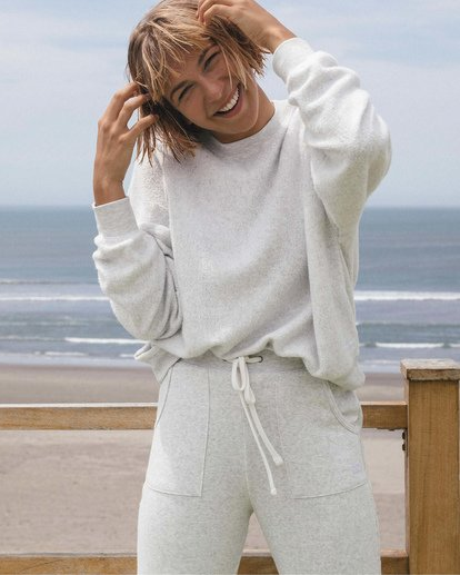 0 Stayin In Fleece White ABJFT00113 Billabong