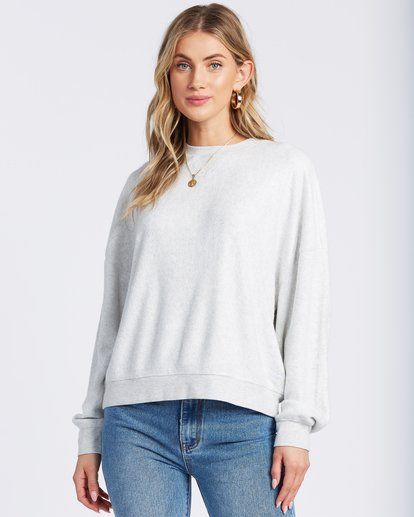 1 Stayin In Fleece White ABJFT00113 Billabong