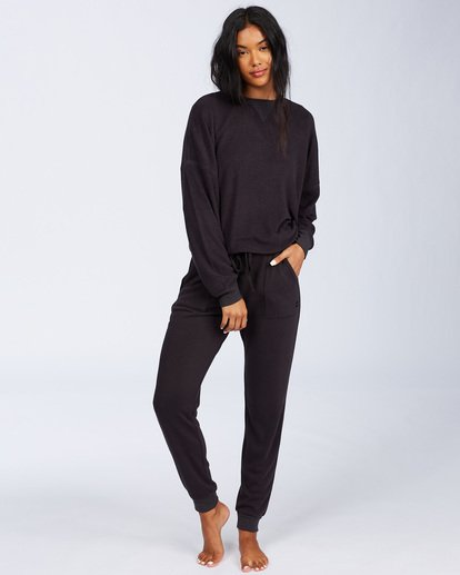 4 Stayin In Fleece Black ABJFT00113 Billabong