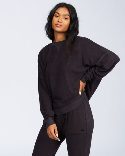 2 Stayin In Fleece Black ABJFT00113 Billabong