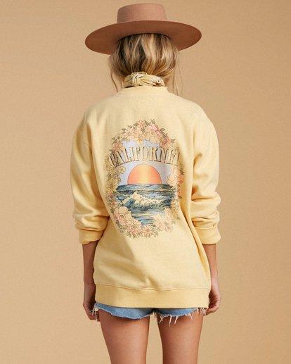 3 Salty Blonde After Sunset Sweatshirt Yellow ABJFT00149 Billabong