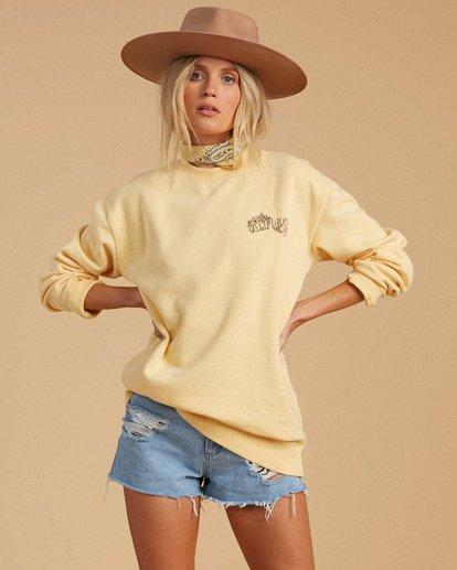 1 Salty Blonde After Sunset Sweatshirt Yellow ABJFT00149 Billabong