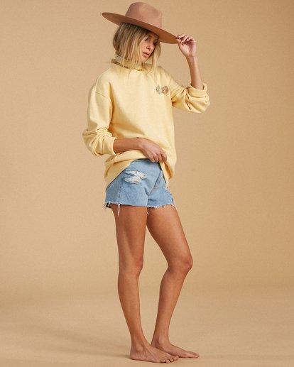 4 Salty Blonde After Sunset Sweatshirt Yellow ABJFT00149 Billabong