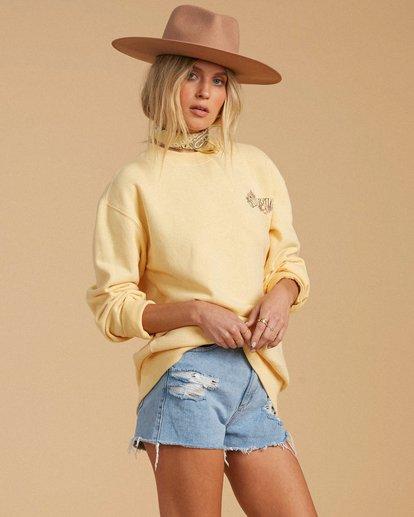 2 Salty Blonde After Sunset Sweatshirt Yellow ABJFT00149 Billabong