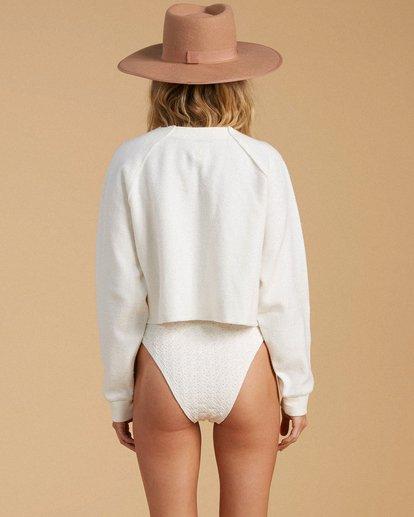 3 Salty Blonde Worn Right Sweatshirt White ABJFT00150 Billabong