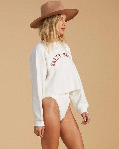 2 Salty Blonde Worn Right Sweatshirt White ABJFT00150 Billabong