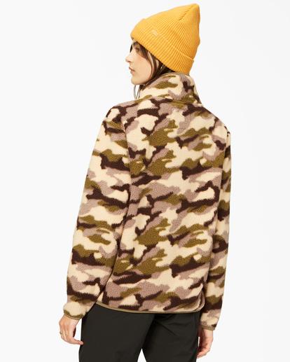3 A/Div Switchback Tie-Dyed Fleece Zip-Up Jacket Green ABJFT00151 Billabong