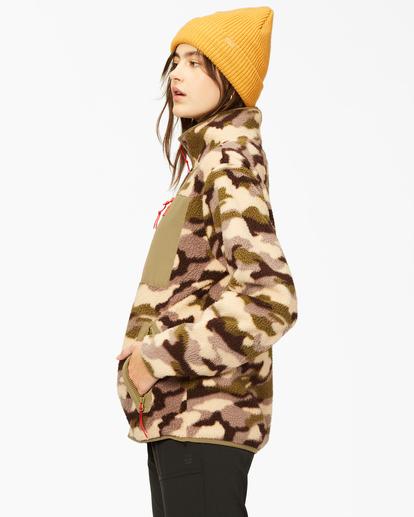 2 A/Div Switchback Tie-Dyed Fleece Zip-Up Jacket Green ABJFT00151 Billabong