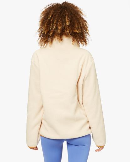 2 A/Div Switchback Tie-Dyed Fleece Zip-Up Jacket White ABJFT00151 Billabong