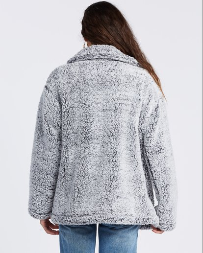 8 Cozy Days Sherpa Fleece Jacket Grey ABJFT00162 Billabong