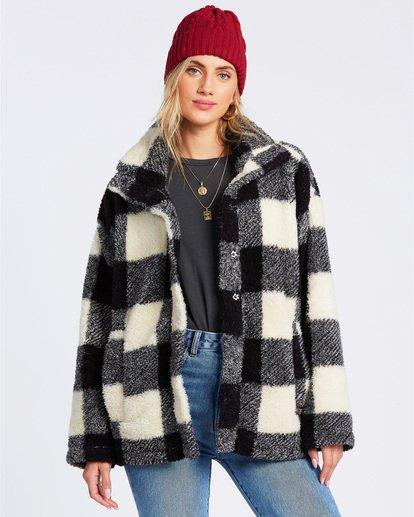 1 Cozy Days Sherpa Fleece Jacket Black ABJFT00163 Billabong