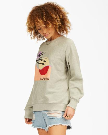 1 Keep Tryin' Crewneck Sweatshirt Grey ABJFT00165 Billabong