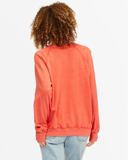 3 Keep Tryin' Crewneck Sweatshirt Red ABJFT00165 Billabong