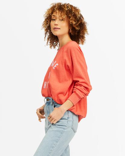 2 Keep Tryin' Crewneck Sweatshirt Red ABJFT00165 Billabong
