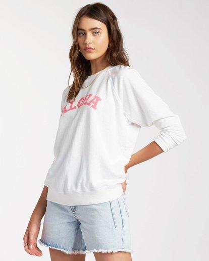 1 Keep Tryin Pullover Sweatshirt White ABJFT00165 Billabong