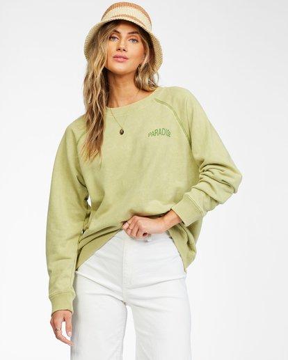 0 Salt And Sand Sweatshirt Green ABJFT00176 Billabong