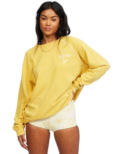 4 Salt And Sand Sweatshirt Yellow ABJFT00176 Billabong
