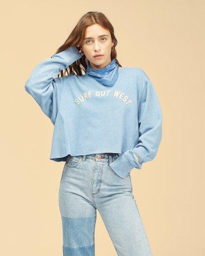 0 Wrangler Past Time Crew Neck Sweatshirt Blue ABJFT00190 Billabong