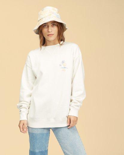 0 Wrangler Wayward Crew Neck Sweatshirt White ABJFT00192 Billabong