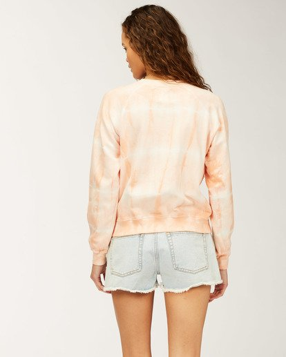 2 Sun Shrunk Crew Neck Sweatshirt Pink ABJFT00198 Billabong