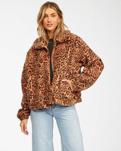 1 Always Cozy 2 Teddy Bear Zip-Up Jacket Multicolor ABJFT00201 Billabong