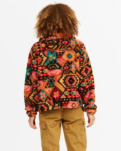 2 Always Cozy 2 Teddy Bear Zip-Up Jacket Green ABJFT00201 Billabong