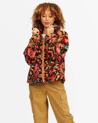 1 Always Cozy 2 Teddy Bear Zip-Up Jacket Green ABJFT00201 Billabong