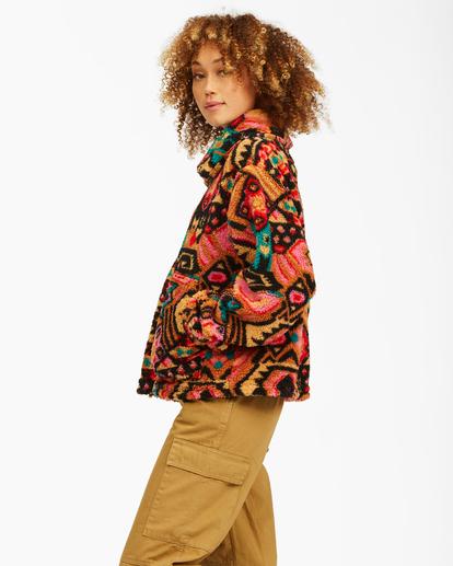 3 Always Cozy 2 Teddy Bear Zip-Up Jacket Green ABJFT00201 Billabong