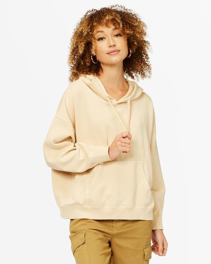 0 Perfect Weekend Pullover Hoodie Beige ABJFT00209 Billabong