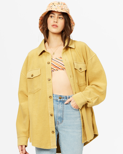 2 Any Time Button-Up Shacket Black ABJFT00211 Billabong