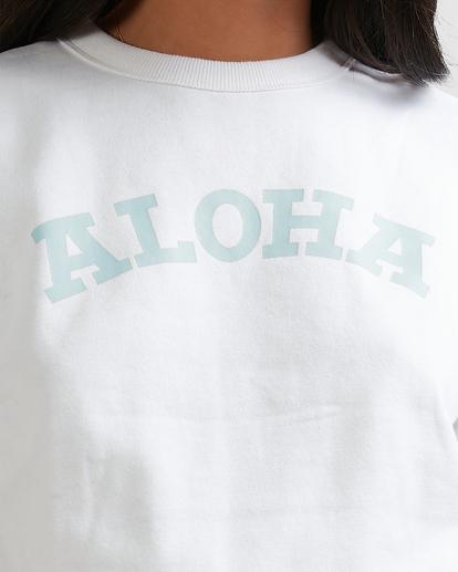 4 Aloha Crewneck Sweatshirt White ABJFT00229 Billabong
