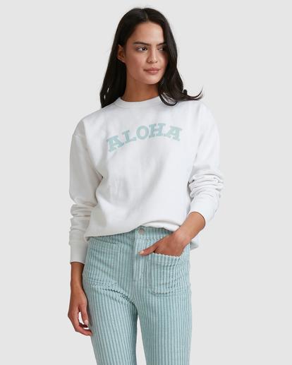 3 Aloha Crewneck Sweatshirt White ABJFT00229 Billabong