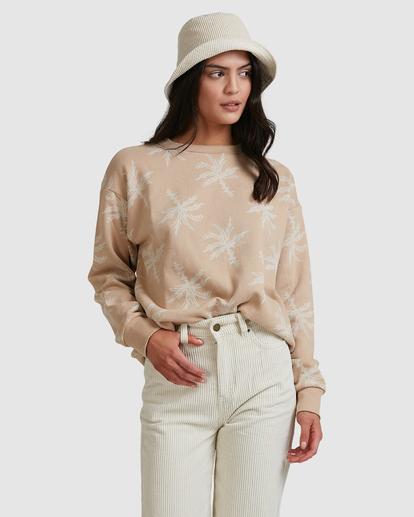 3 Tilted Palm Sweater Beige ABJFT00233 Billabong