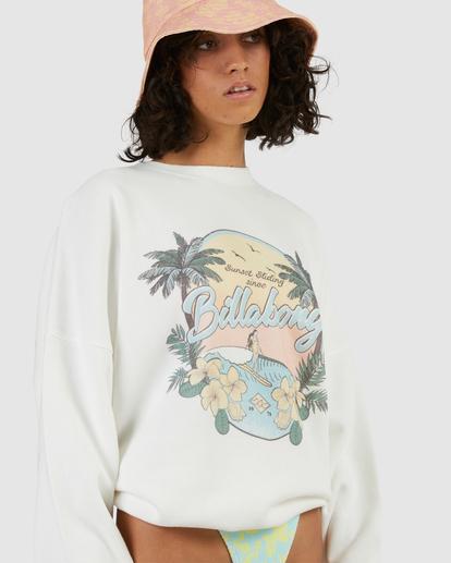 4 Sun Dreamer Crewneck Sweatshirt White ABJFT00253 Billabong