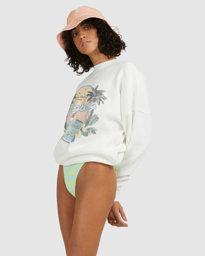 1 Sun Dreamer Crewneck Sweatshirt White ABJFT00253 Billabong