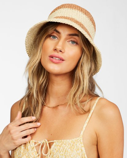 0 So Simple Straw Bucket Hat White ABJHA00125 Billabong