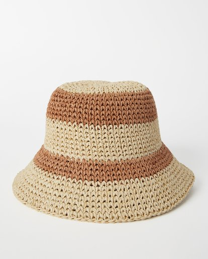 2 So Simple Straw Bucket Hat White ABJHA00125 Billabong
