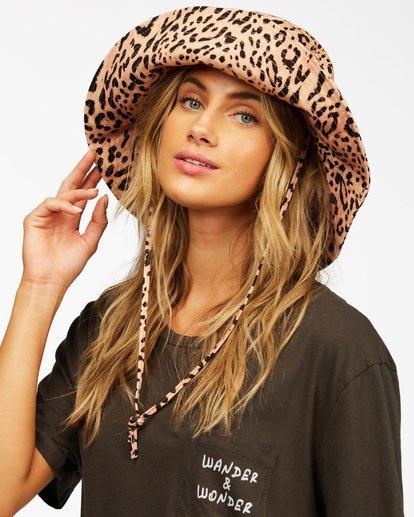 1 Direct Sun Leopard Print Bucket Hat Multicolor ABJHA00127 Billabong