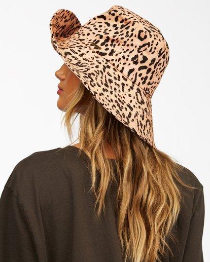 2 Direct Sun Leopard Print Bucket Hat Multicolor ABJHA00127 Billabong