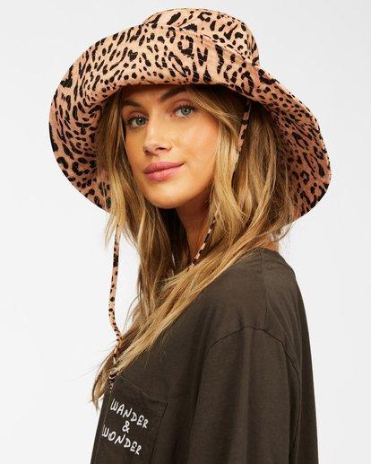 5 Direct Sun Leopard Print Bucket Hat Multicolor ABJHA00127 Billabong