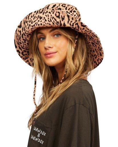 7 Direct Sun Leopard Print Bucket Hat Multicolor ABJHA00127 Billabong
