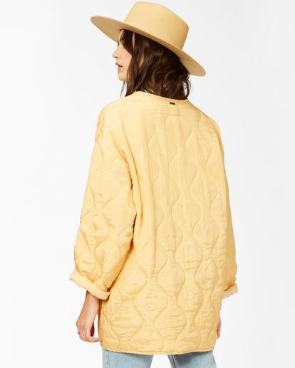 4 U R Golden Quilted Button-Up Jacket White ABJJK00135 Billabong
