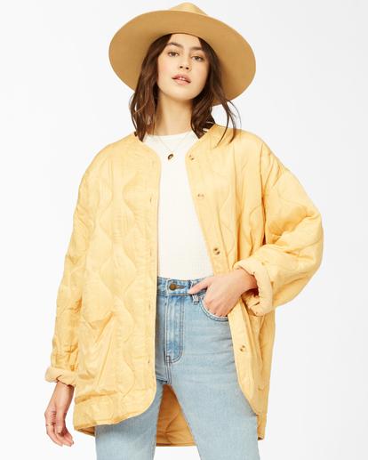 2 U R Golden Quilted Button-Up Jacket White ABJJK00135 Billabong