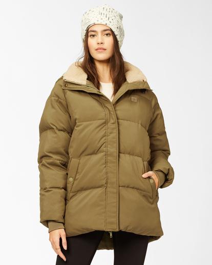 2 A/Div Artic Shores Zip-Up Jacket Green ABJJK00137 Billabong