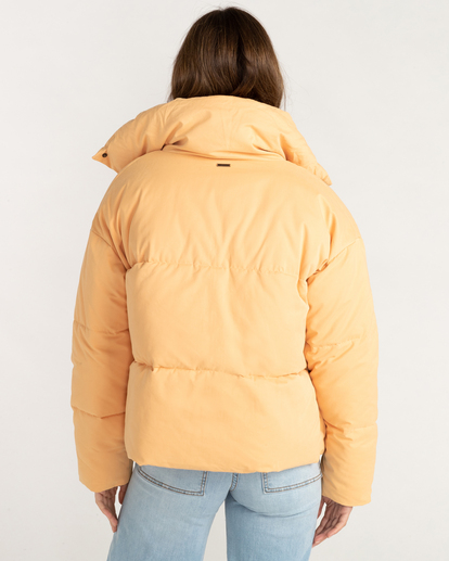 2 Good Friends Button-Up Puffer Jacket Orange ABJJK00145 Billabong