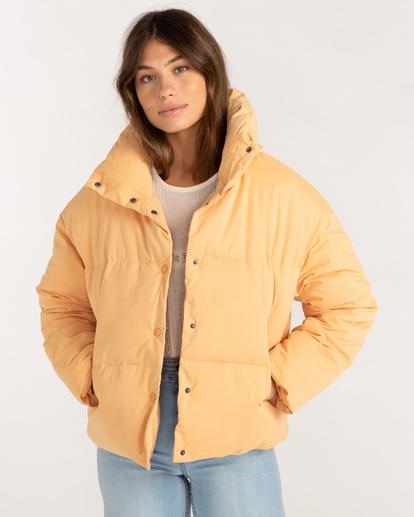 1 Good Friends Button-Up Puffer Jacket Orange ABJJK00145 Billabong
