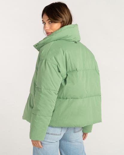2 Good Friends Button-Up Puffer Jacket Green ABJJK00145 Billabong