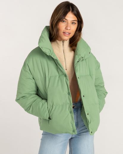 1 Good Friends Button-Up Puffer Jacket Green ABJJK00145 Billabong